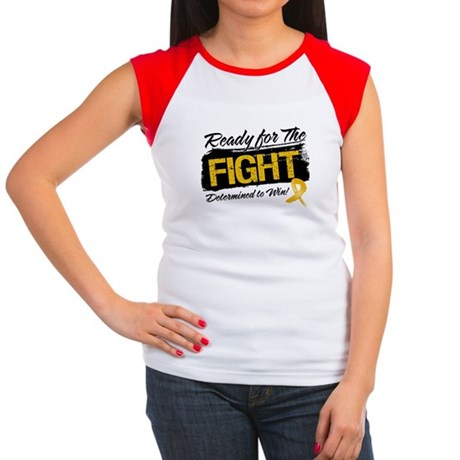 Ready Fight Appendix Cancer Women's Cap Sleeve T-S