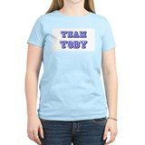 Team Toby Blue Women's Pink T-Shirt