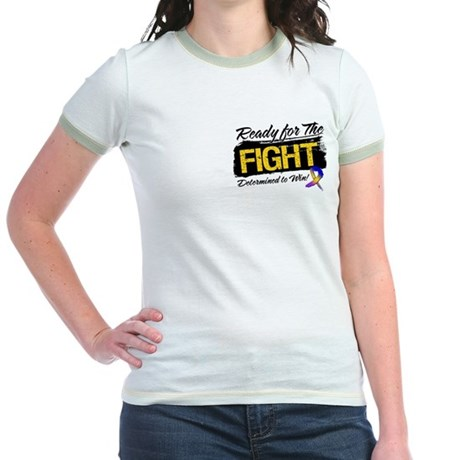 Ready Fight Bladder Cancer Jr. Ringer T-Shirt