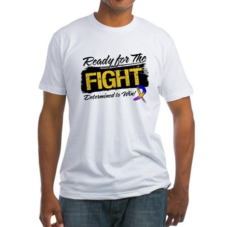 Ready Fight Bladder Cancer Fitted T-Shirt