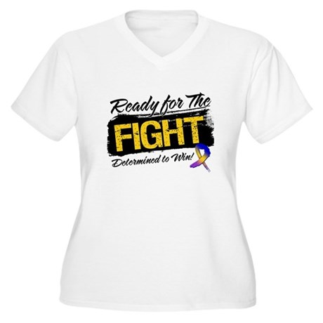 Ready Fight Bladder Cancer Women's Plus Size V-Nec