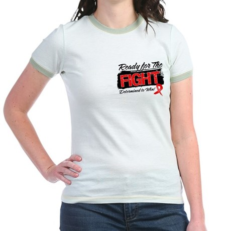 Ready Fight Blood Cancer Jr. Ringer T-Shirt