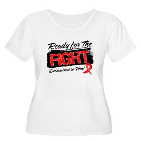 Ready Fight Blood Cancer Women's Plus Size Scoop N