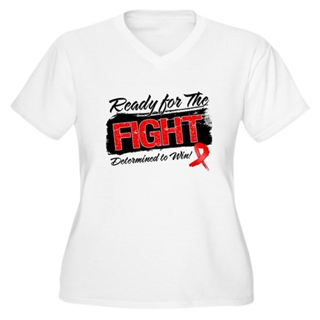 Ready Fight Blood Cancer Women's Plus Size V-Neck 