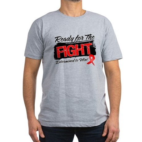 Ready Fight Blood Cancer Men's Fitted T-Shirt (dar