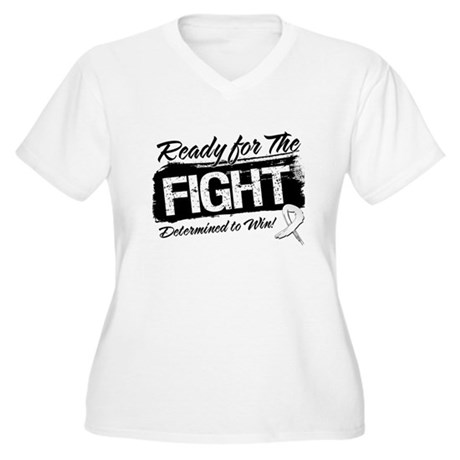 Ready Fight Bone Cancer Women's Plus Size V-Neck T