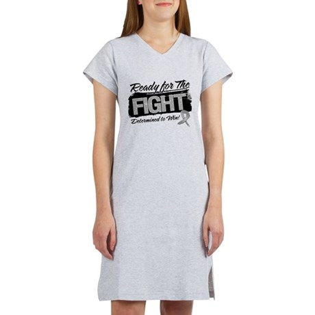 Ready Fight Brain Cancer Women's Nightshirt