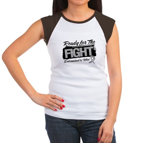 Ready Fight Brain Cancer Women's Cap Sleeve T-Shir