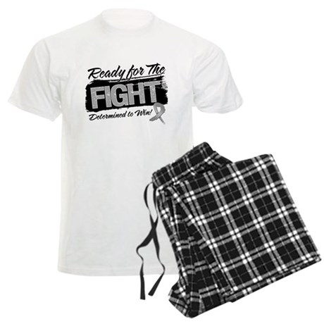 Ready Fight Brain Cancer Men's Light Pajamas