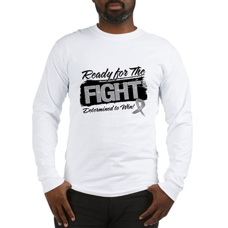 Ready Fight Brain Cancer Long Sleeve T-Shirt
