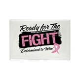 Ready Fight Breast Cancer Rectangle Magnet (10 pac