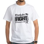 Ready Fight Carcinoid Cancer White T-Shirt