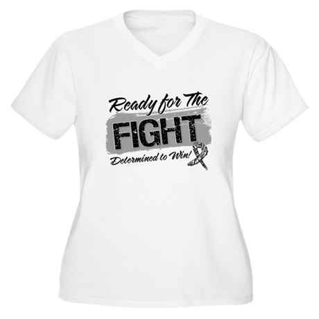 Ready Fight Carcinoid Cancer Women's Plus Size V-N