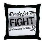 Ready Fight Carcinoid Cancer Throw Pillow