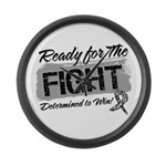 Ready Fight Carcinoid Cancer Large Wall Clock