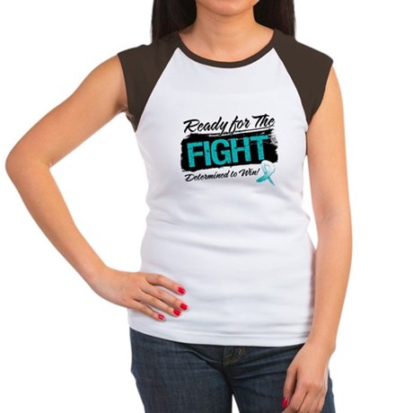 Ready Fight Cervical Cancer Women's Cap Sleeve T-S