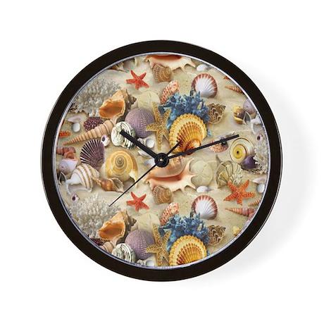 Fancy seashells wall clock by alittlebitofthis1 for Seashell wall clock