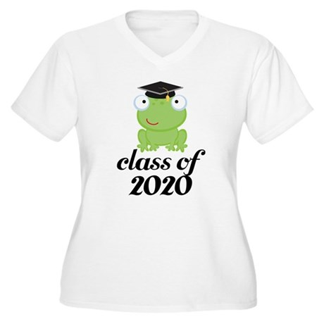 Class of 2020 Frog Women's Plus Size V-Neck T-Shir