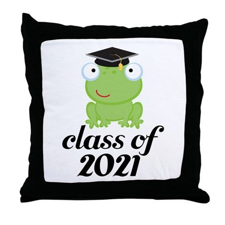 Class of 2021 Frog Throw Pillow