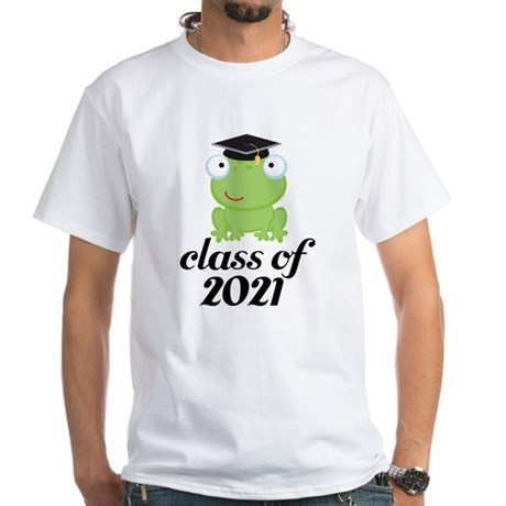 Class of 2021 Frog White T-Shirt