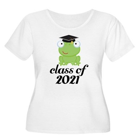 Class of 2021 Frog Women's Plus Size Scoop Neck T-