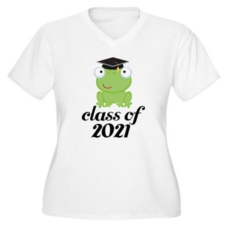 Class of 2021 Frog Women's Plus Size V-Neck T-Shir