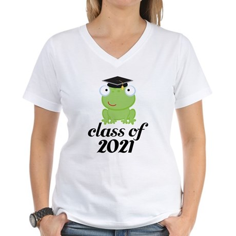 Class of 2021 Frog Women's V-Neck T-Shirt