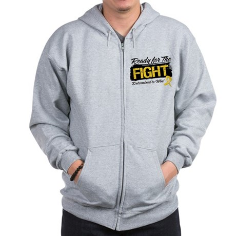 Ready Fight Childhood Cancer Zip Hoodie
