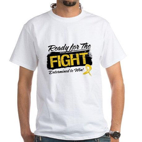 Ready Fight Childhood Cancer White T-Shirt