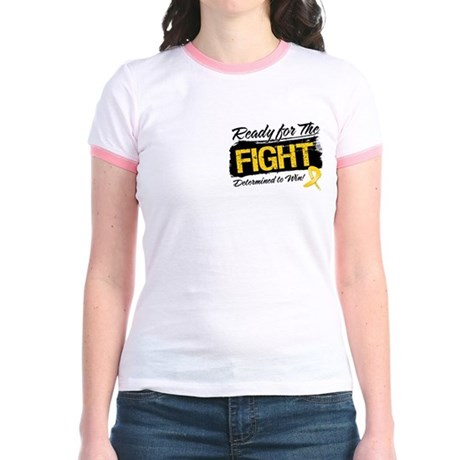 Ready Fight Childhood Cancer Jr. Ringer T-Shirt