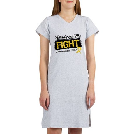 Ready Fight Childhood Cancer Women's Nightshirt
