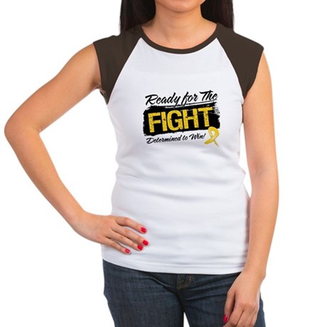 Ready Fight Childhood Cancer Women's Cap Sleeve T-