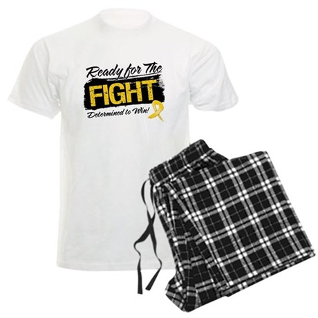 Ready Fight Childhood Cancer Men's Light Pajamas
