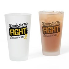 Ready Fight Childhood Cancer Drinking Glass
