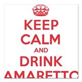 "K C Drink Amaretto Square Car Magnet 3"" x 3"""