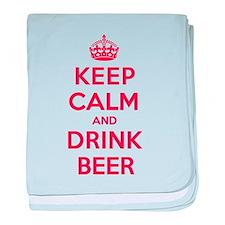 K C Drink Beer baby blanket