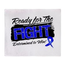 Ready Fight Colon Cancer Throw Blanket