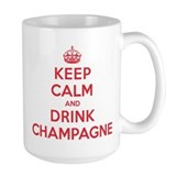 Keep calm and carry on champagne Large Mug (15 oz)