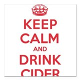 "K C Drink Cider Square Car Magnet 3"" x 3"""
