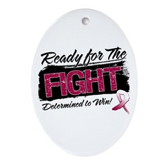 Ready Fight Head Neck Cancer Ornament (Oval)