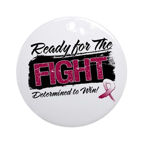 Ready Fight Head Neck Cancer Ornament (Round)