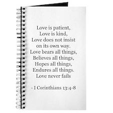 I Corinthians 13:4-8 Journal