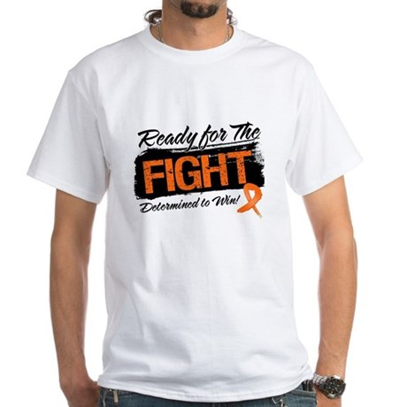 Ready Fight Kidney Cancer White T-Shirt