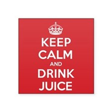 "K C Drink Juice Square Sticker 3"" x 3"""