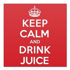 "K C Drink Juice Square Car Magnet 3"" x 3"""