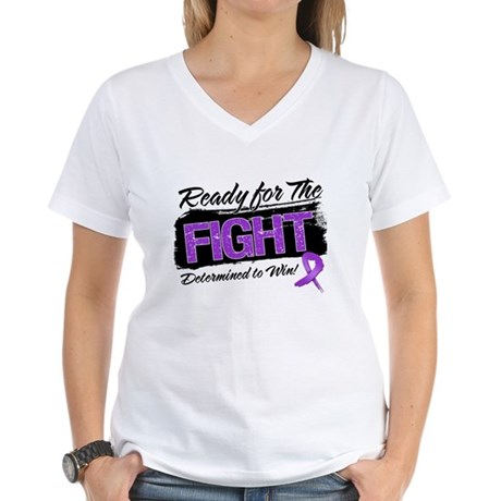 Ready Fight Leiomyosarcoma Women's V-Neck T-Shirt