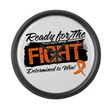 Ready Fight Leukemia Large Wall Clock