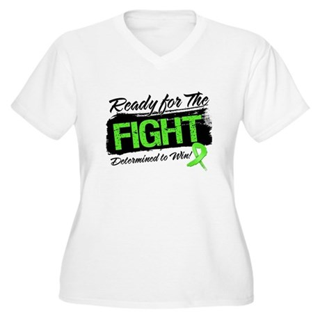 Ready Fight Lymphoma Women's Plus Size V-Neck T-Sh