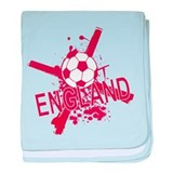 England Flag Football Soccer baby blanket