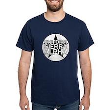 USA - Black & White T-Shirt